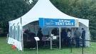 Erie Shores Healthcare tent sale