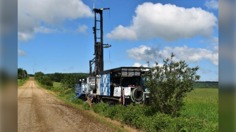 Drilling equipment - Source: Peace Region Scientific Groundwater Monitoring Network Installation Study
