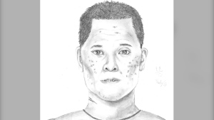 A composite sketch of the suspect RCMP say sexually assaulted a young girl in Parkland County this summer (Source: RCMP).