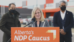 NDP leader Rachel Notley addresses criticism that her MLAs have become too involved in Edmonton's civic election on Oct 15, 2021 (Source: Alberta NDP).