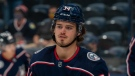 Cole Sillinger, #34, for the Columbus Blue Jackets. (Columbus Blue Jackets/NHL)