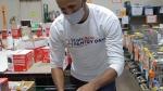 Damian Warner helping Food Banks Canada