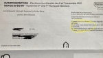 An example of one of the mailed-out voter registration notices in Oct. 2021 (Photo: CTV News)