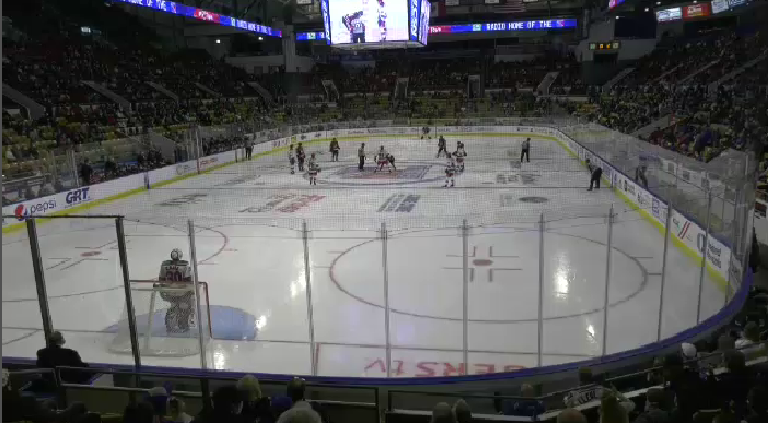 A Kitchener Rangers game at The Aud before the COVID-19 pandemic.