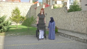 Rumeysa Gelgi, 24, hopes to inspire others after being awarded the Guinness World Record for tallest woman in the world.