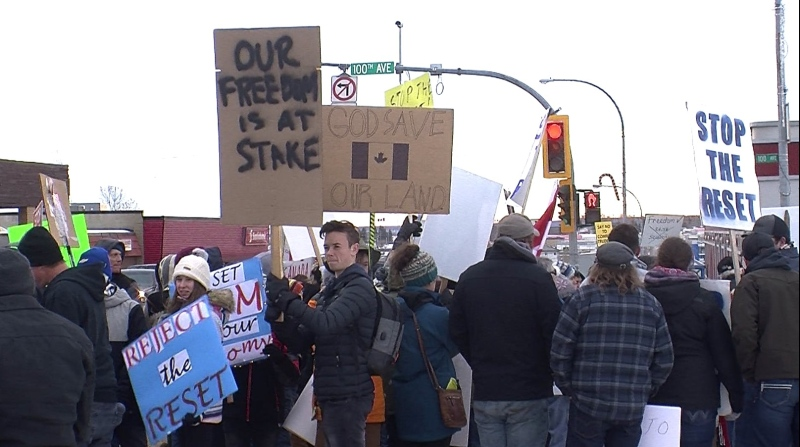 Freedom Rally Protesters in the Peace Region in December 2020