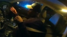 Video footage shows police in Atlanta stopping an unconscious driver moments before he would have hit oncoming traffic.