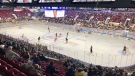 The first Kitchener Rangers game at The Aud with no restrictions to the number of people allowed in the crowd. (Dan Lauckner/CTV Kitchener) (Oct. 15, 2021)