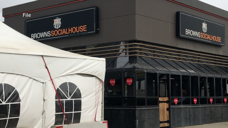 The front of Browns Social House restaurant