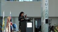 Jacqueline Ottmann gives a speech during installation ceremony (David Prisciak, CTV News)