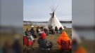 Boston Bear, 19, organized a a youth mental health hunt to help Indigenous people connect with the land. (Courtesy: Boston Bear)