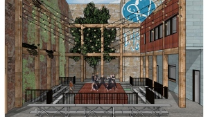 The future outdoor theatre is a 2.8 million dollar project that will be located on Durham Street near the YMCA. (Supplied)