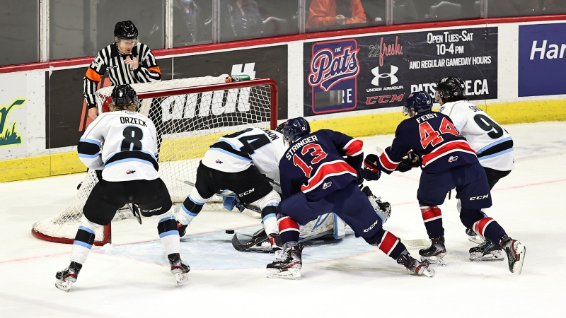 The Regina Pats lost 4-2 to the Winnipeg Ice at the Brandt Centre on Oct. 16, 2021 (Keith Hershmiller Photography/Regina Pats)