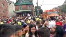 Kingston police estimate 8,000 packed Aberdeen Street and William Street during homecoming weekend. (Kimberley Johnson/CTV News Ottawa)