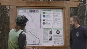 More than 100 volunteers offered their time and hard work to design the trails, and North Bay Mountain Bike Association program director Connie Hoggart says the pandemic had a positive impact on this project. Oct.16/21(Jaime McKee/CTV News Northern Ontario)