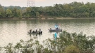 Police search the Ohio River near Aurora, Ind. (Indiana State Police0