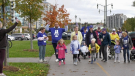 Participants took part in Bridget`s Run in Barrie, Ont., on Saturday, October 16 (Steve Mansbridge/CTV News)