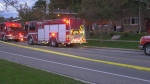 Fire crews are investigating a house fire in Mississauga that sent one woman to hospital.