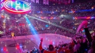 Montreal Canadiens fans cheer on their team during a ceremony prior to first period NHL hockey action against the New York Rangers in Montreal, Saturday, October 16, 2021. THE CANADIAN PRESS/Graham Hughes