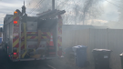 Smoke from a garage fire in southwest Calgary.