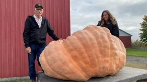 The father-daughter duo of Jim and Kelsey Bryson are well-known in competitive pumpkin growing circles. They broke the world record in 2011 with an 1,800 pounder.