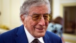 Singer Tony Bennett tours the U.S. Library of Congress where he was honoured as the recipient of the Library of Congress Gershwin Prize for Popular Song, in Washington, D.C., Nov. 15, 2017. (AP Photo/Cliff Owen)