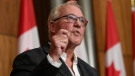 Liberal candidate for Scarborough Southwest Bill Blair speaks during a campaign event responding to Conservative leader Erin O'Toole's plans surrounding gun legislation, in Ottawa, on Tuesday, Sept. 7, 2021. THE CANADIAN PRESS/Justin Tang