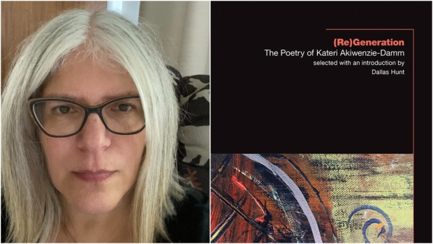 Kateri Akiwenzie-Damm is seen in this undated photograph alongside with the cover of her latest collection.