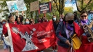 Indigenous women's rights were front and centre during the World Women's March in Montreal on Oct. 17, 2021. (Christine Long/CTV News)