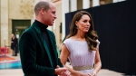 Prince William and Kate, Duchess of Cambridge attend the first Earthshot Prize Awards Ceremony at Alexandra Palace in London on Sunday Oct. 17, 2021. Created by Prince William and The Royal Foundation, The Earthshot Prize has led an unprecedented global search for the most inspiring and innovative solutions to the greatest environmental challenges facing the planet. (AP Photo / Alberto Pezzali, pool)