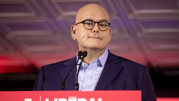 Ontario Liberal Party leader Steven Del Duca delivers remarks at the party's AGM in Toronto, Sunday, Oct. 17, 2021. THE CANADIAN PRESS/Chris Young
