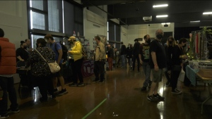 Northern Game Expo organizer Michael Shanks says the event showcases everything nerd, from retro to modern video games, comics, anime, vintage toys, board games, local art and so much more. oCT.17/21 (Lyndsay Aelick/CTV News Northern Ontario)