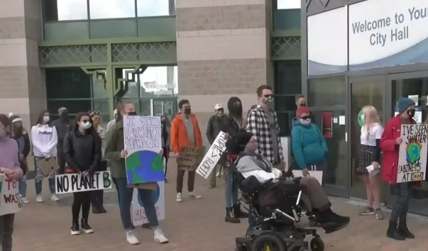 Climate action rally in Barrie