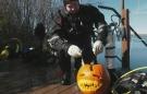 Regina group carves pumpkins underwater