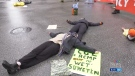 Climate activists block Commercial and Broadway