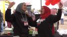 Edmonton's Lebanese community rallied for a fundraising event Sunday Oct. 17, 2021. (CTV News Edmonton)