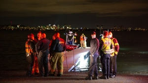 Search and rescue crews on Montreal's South Shore in the middle of an operation to locate a missing firefighter who went into the Saint-Lawrence River.