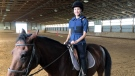 Serina Timperio is able to ride a horse again in Windsor-Essex, Ont. (Angelo Aversa / CTV Windsor)