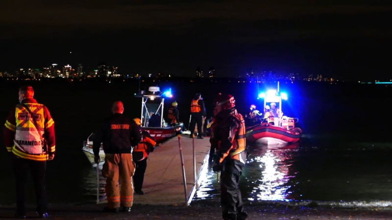 Overnight search operation for missing firefighter