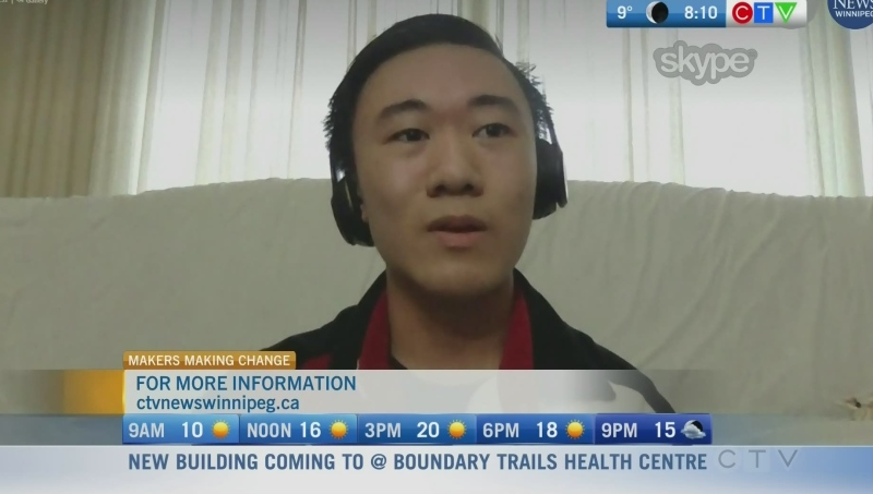 Jordon Hong is a student volunteer with 'Makers Making Change'. Rachel Lagacé report