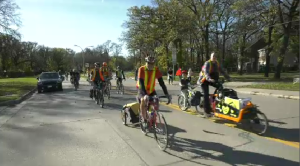 RIde for the Future cyclists promote active transportation on Wellington Crescent, Oct 17 (Zachary Kitchen, CTV News)