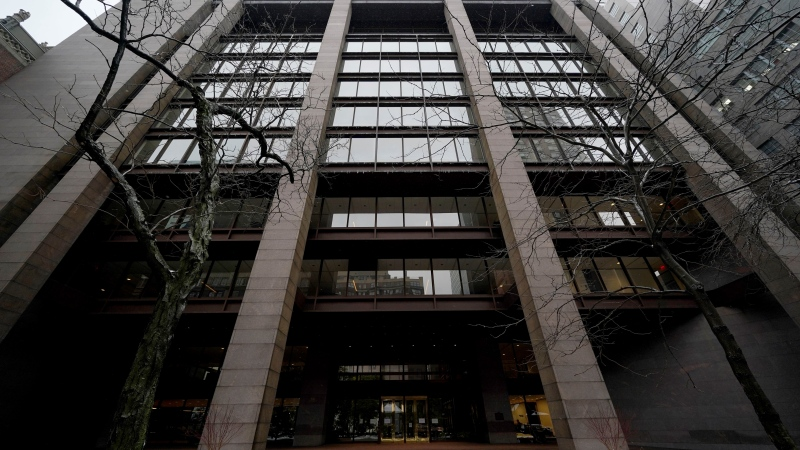 The Ford Foundation Building is seen in New York, Friday, Feb. 19, 2021. (AP Photo/Seth Wenig)