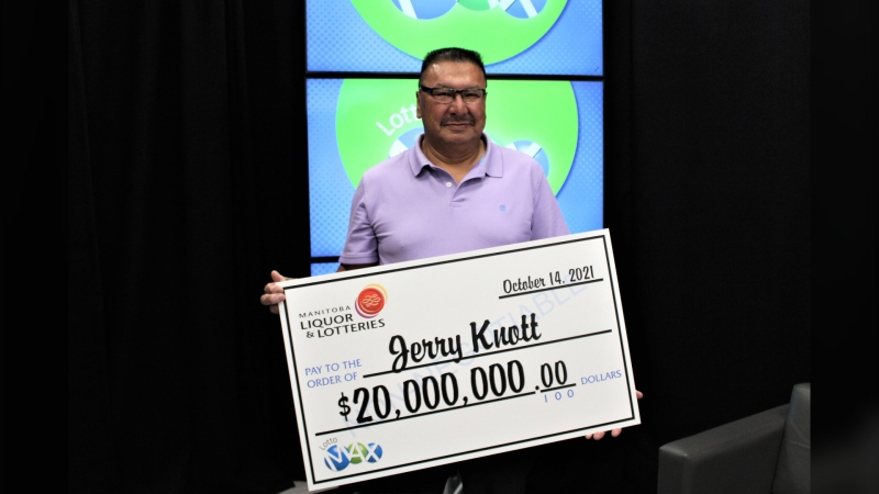 Jerry Knott won the Aug. 24, 2021 Lotto Max for $20 million. He didn't claim the ticket until October because he forgot about it in his wallet. (Source: Western Canadian lottery Corporation)