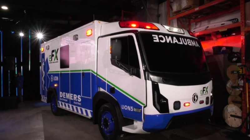 Lion Electric and Demers Ambulances worked together to develop the all-electric Demers eFX ambulance.