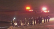 Car into retention pond on Deerfoot Trail