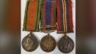 Waterloo regional police are seeking the public's assistance is identifying the owner of three World War II medals recovered during a break and enter investigation. (Supplied by WRPS)