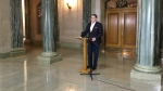 Saskatchewan Premier Scott Moe addresses ICU patient transfers to Ontario.
