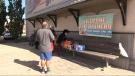 The 'Helping the Hungry' program provides weekly meals to those living in poverty in St. Thomas, Ont. as seen Monday, Oct. 18, 2021. (Brent Lale / CTV News)