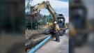 City crews replacing a water main in Winnipeg. (Source: winnipeg.ca)