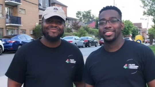 Dane Williams, left, and Romain Baker, right, cofounders of Black Urbanism Toronto. (Courtesy of Dane Williams)